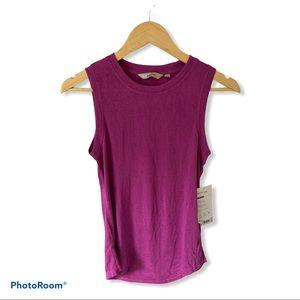 NWT Athleta Pink/Purple Sleeveless Breezy Tank